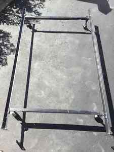 Bed Frame on Rolling Casters
