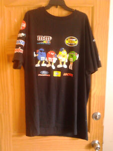 VERY RARE...NASCAR M&M T SHIRT. I THINK ABOUT 2 XL GREAT SHAPE