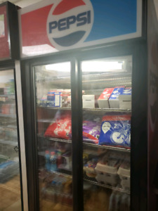 Pepsi fridge two door for sale