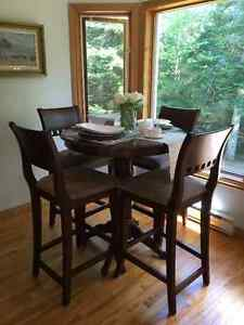 Pub Style Table & 4 Chairs