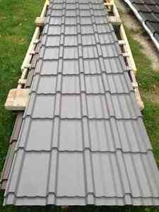 10-10ft Sheets of Brand New Black Shake Style Steel Roofing Peterborough Peterborough Area image 1