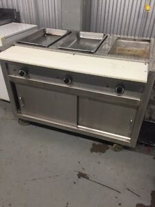 4ft three well hot steam table for only $650 !