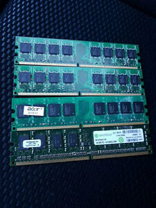 4x1GB PC5300 DDR2 Desktop Memory (RAM)