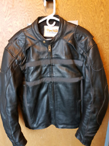 Large Leather Open Road Motorcycle Jacket