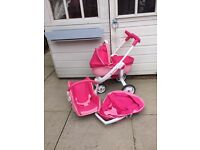 Dolls quinny Pram with car seat carrycot and seat unit