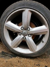 Set of 4 audi a3 vw golf seat leon alloy wheels rim with tyre 17 inch