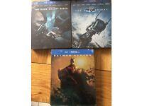 The dark knight Trilogy- limited edition Bluray steelbook