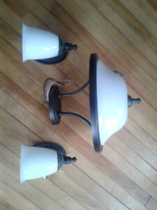 Ceiling light and wall sconce set