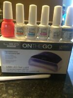 Gelish LED nail light and kit