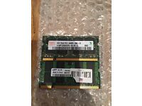 2 x 2GB DDR2 ram for laptop available