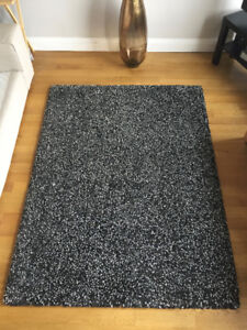 Thick & Soft Area Rug - lKEA, high pile, dark grey, like new