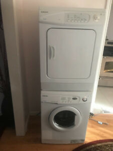 24 inch samsung washer and dryer stackable set for sale