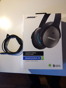 Bose QC25 (New with Apple and Samsung cables)