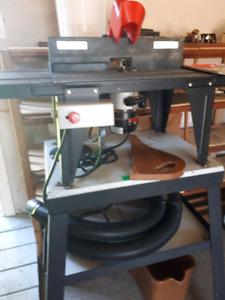 Sears Craftsman router, Router fence and cast iron stand