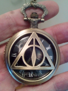 Brand New Harry Potter Pocket Watch Colored Dial.