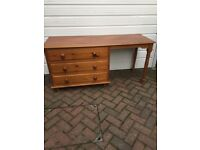 LARGE PINE DRESSING TABLE in GOOD CONDITION