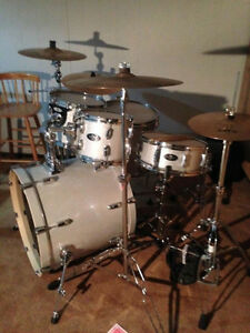 Pearl Vision Complete Drum Kit, Cymbals, Double Kick, Hardware