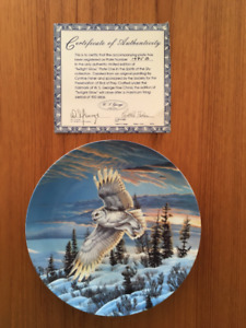 6 Collector Plates of Owls
