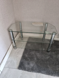 Glass TV unit stand table
