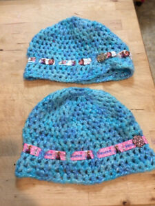 Disney's Frozen crocheted toques. Would fit age 2-6 best. Dieppe