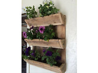 Shabby Chic Vintage Style Wooden Wall Garden Planter Pots Herb Window Box Plant