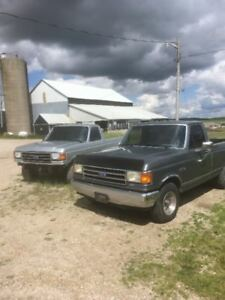 1989 and 1990 F150 custom 5 speed trucks