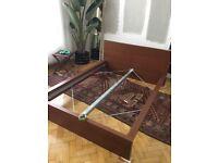 Full Size Mahogany Platform Bed