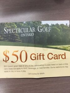 Golf gift card for sale