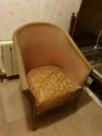 Vintage Tub Chair Light pink