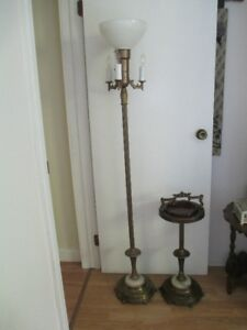 1940's Lamp & Matching floor Ashtray