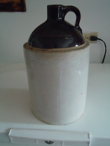 Antique Half Gallon Stoneware Wiskey Jug