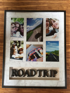 """Frame with """"Roadtrip"""" letters"""