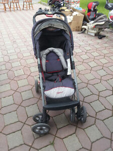 Gray with Red Safety first stroller