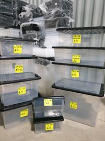 Plastic Storage Boxes Small Medium Large