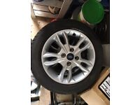 4 fiesta alloys with tires
