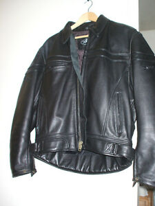 MENS JOE ROCKET LEATHER JACKET SIZE MED
