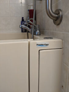 Premier Care walk-in bathtub and shower combo