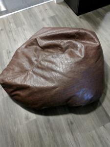 Pleather bean bag chair