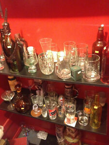 Vintage Bottles and Collectible Glasses