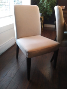 8 - Henriksdal Dining Chairs in Linen Fabric