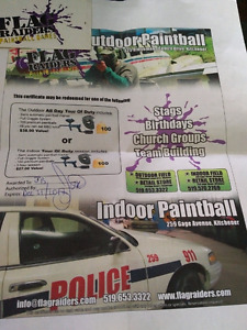 Flag raiders paintball gift certificate
