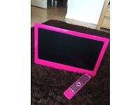 Pink 19inch flat screen TV