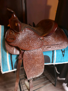 For sale or will trade for a larger western saddle