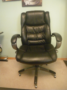 Bonded Black Leather Executive Office Chair