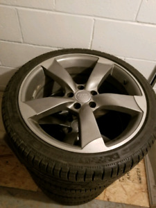 255/35/19 Michelin pilot alpin pa4 on audi rims