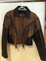 Ladies leather jacket large