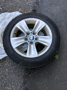 4x BMW Rims and Dunlop Winter Run Flats (225/55R/17)