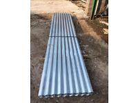 Brand new corrugated galvanised sheets