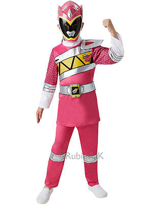 Dino Charge Deluxe Power Rangers Pink Outfit Fancy Dress Costume Girls (3-8y)