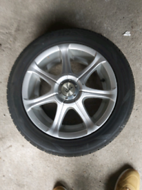 """15"""" BK racing Alloy wheels and tyres fiat fitment"""